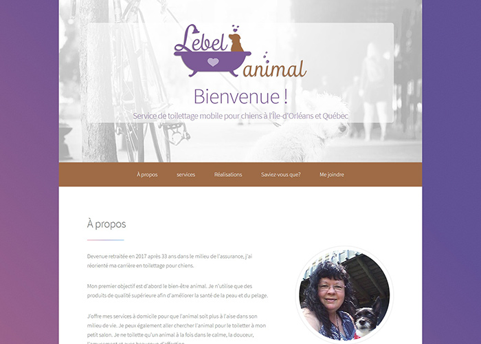 site Web Lebel animal